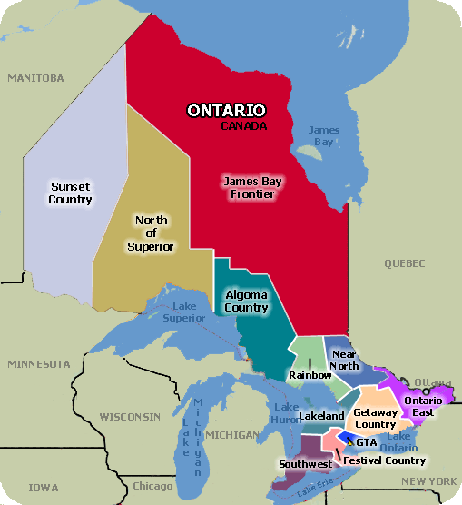 Click a location for Indian- First Nations Gas Stations in Ontario